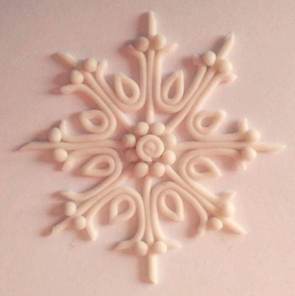 Декорирование снежинки