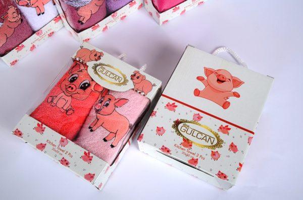 полотенце со свиньей
