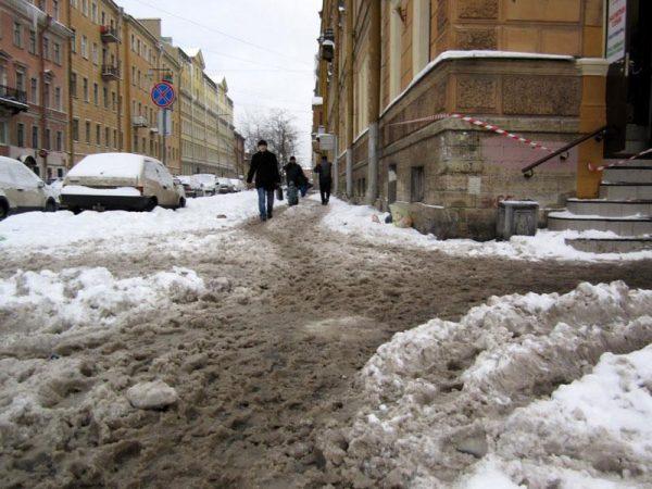 городская слякоть зимой