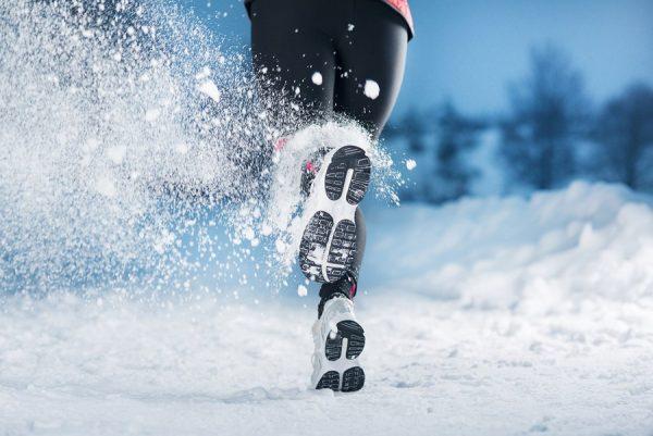 пробежка по снегу