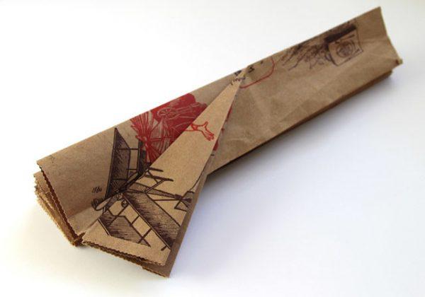 Заготовка из бумаги для абажура