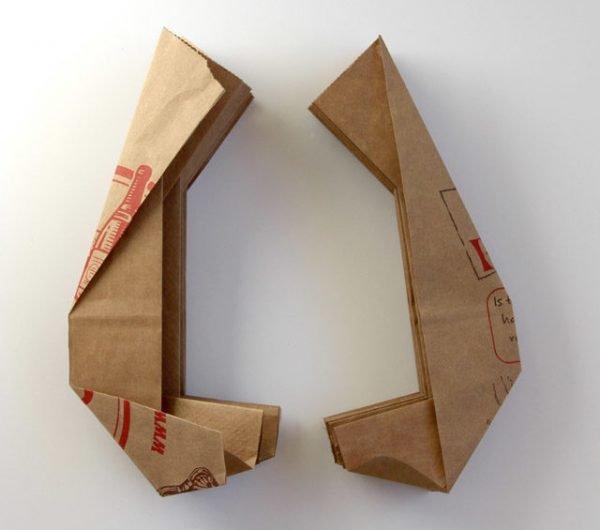 Сложенные пакеты из бумаги