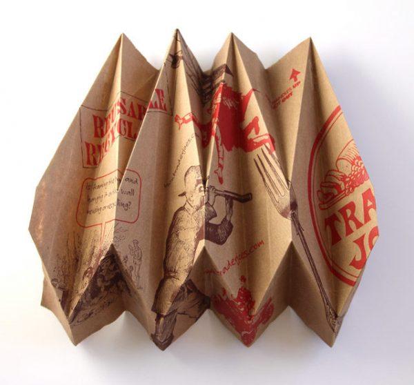 Абажур из бумажных пакетов