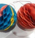Бумажные ёлочные шары