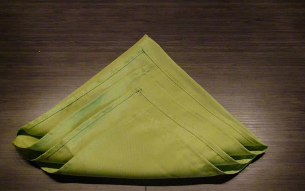 Сложенная салфетка