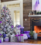 Сиреневый и фиолетовый цвет в новогоднем интерьере