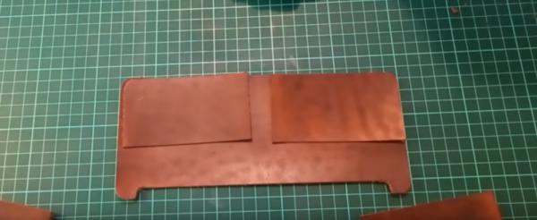 Пошив мужского портмоне: этап 3
