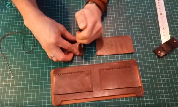 Пошив мужского портмоне: этап 5