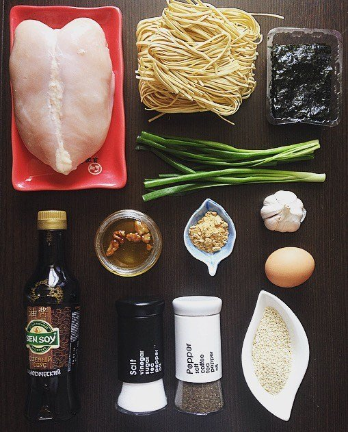 Ингредиенты для супа «Рамэн»
