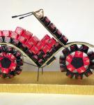 Оформление сладкого подарка «Мотоцикл»