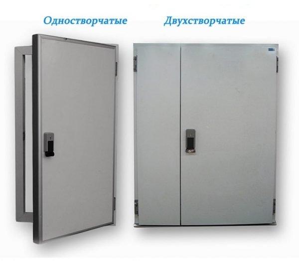 Двери с одной и двумя створками