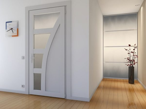 Пример пластиковых ламинированных дверей