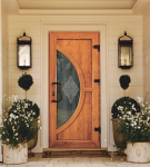 Входная дверь со стеклом