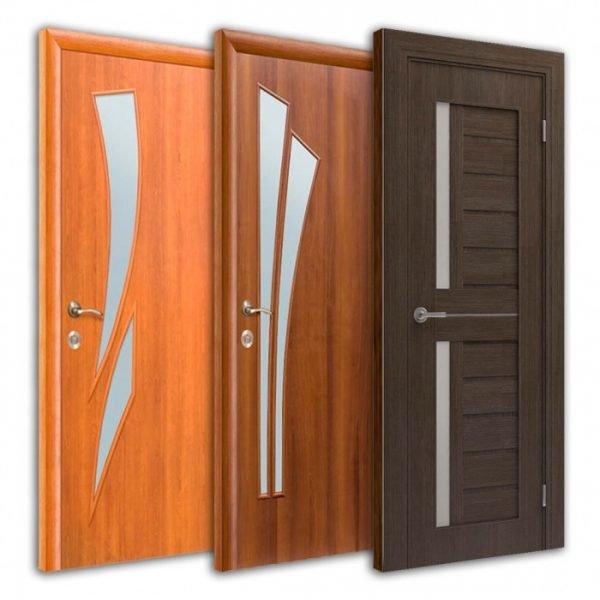 Три ламинированные двери