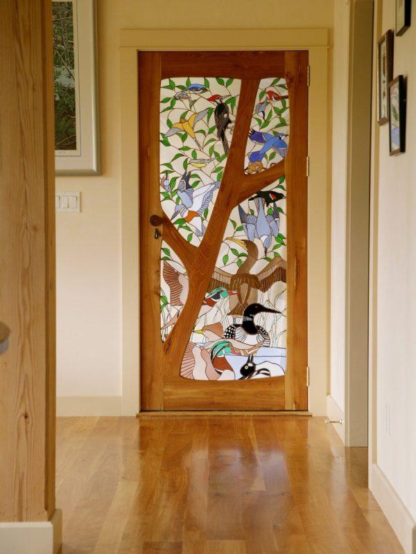 Витражная дверь