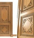 Резная дверь из массива дуба