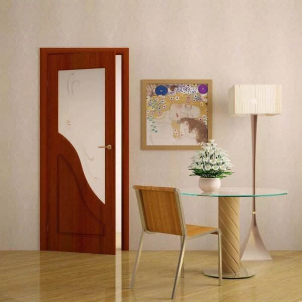 Частично остеклённая ПВХ-дверь