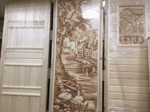 Двери из липы для бани