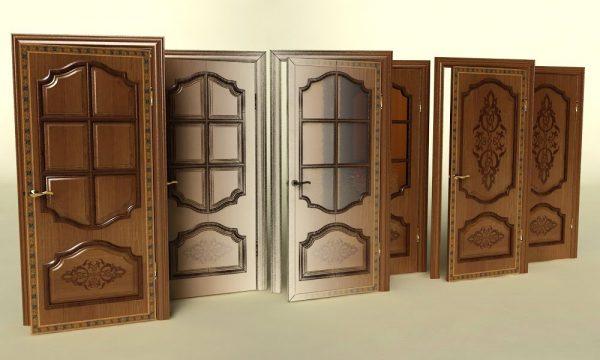 Филёнчатые окрашенные двери