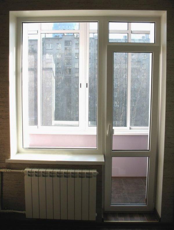 Устройство балконных дверей