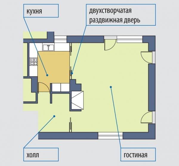 Пример схемы планировки квартиры