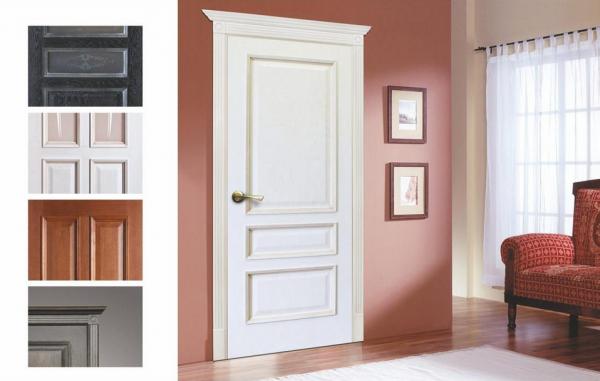 Двери из шпона разного цвета