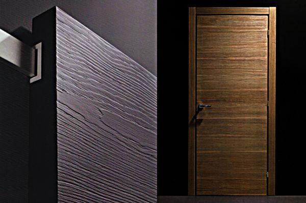 Поверхность шпонированных дверей
