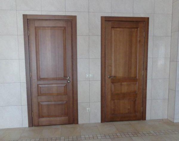 Глухие шпониорванные двери
