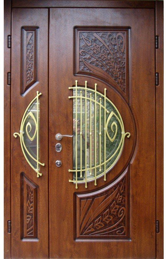 Двустворчатая дверь с несимметричными створками