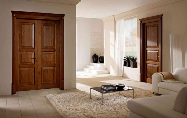 Двери со сплошной отделкой