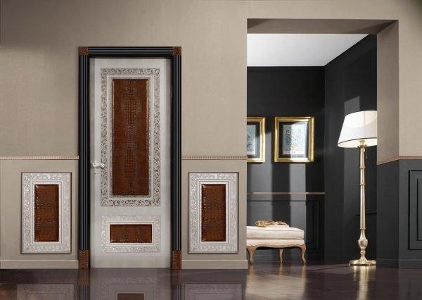 Контрастное оформление двери