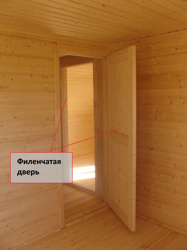 Установленная филёнчатая дверь