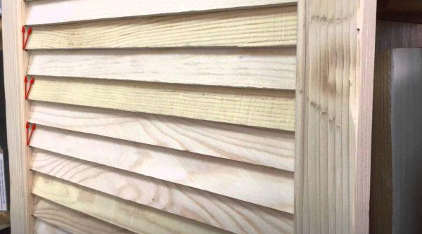Наклон деревянных ламелей