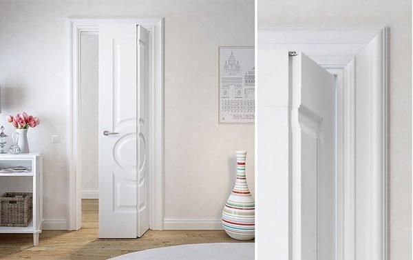 Дверь-книга в комнате