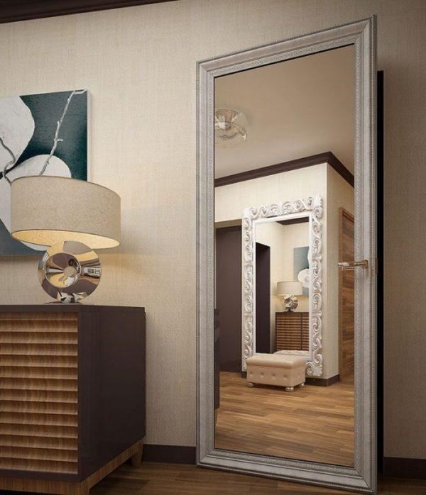 Пример скрытой двери в виде зеркала