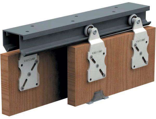 Вариант комплектующих для раздвижных дверей