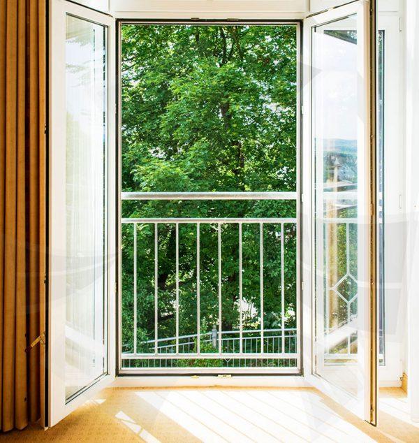 Балконная двустворчатая дверь