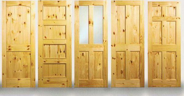Варианты полотен дверей из массива сосны