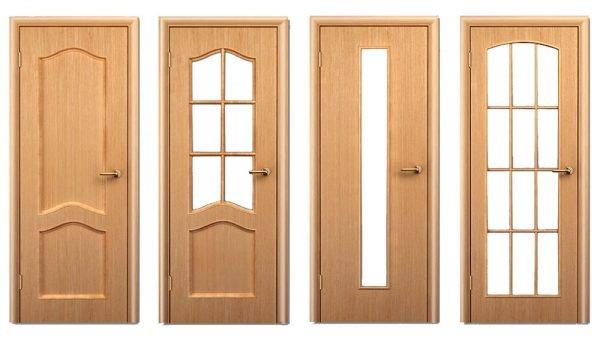 Варианты стеклянных вставок на дверях