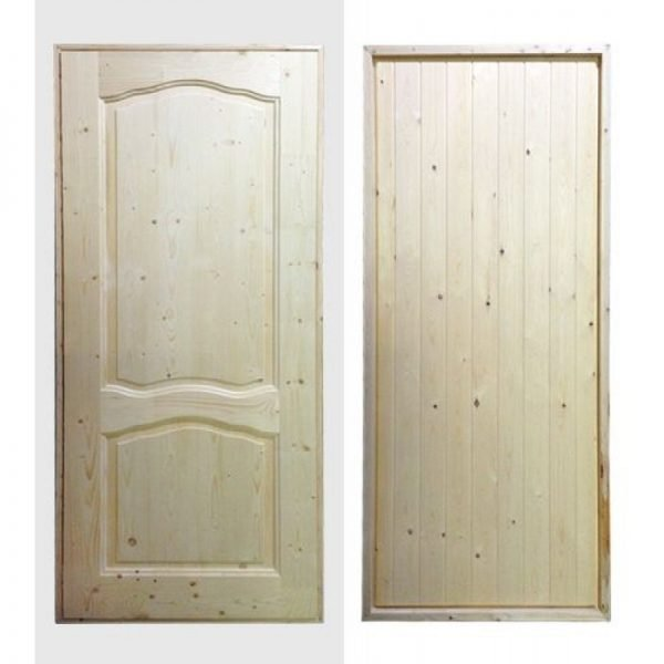 Утеплённые двери с филёнками