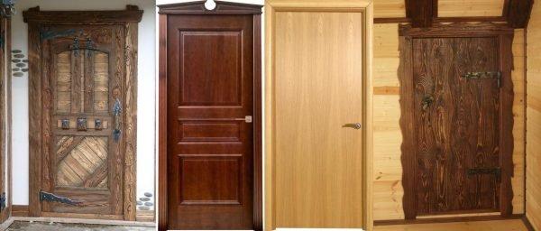 Две филёнчатые и две щитовые двери