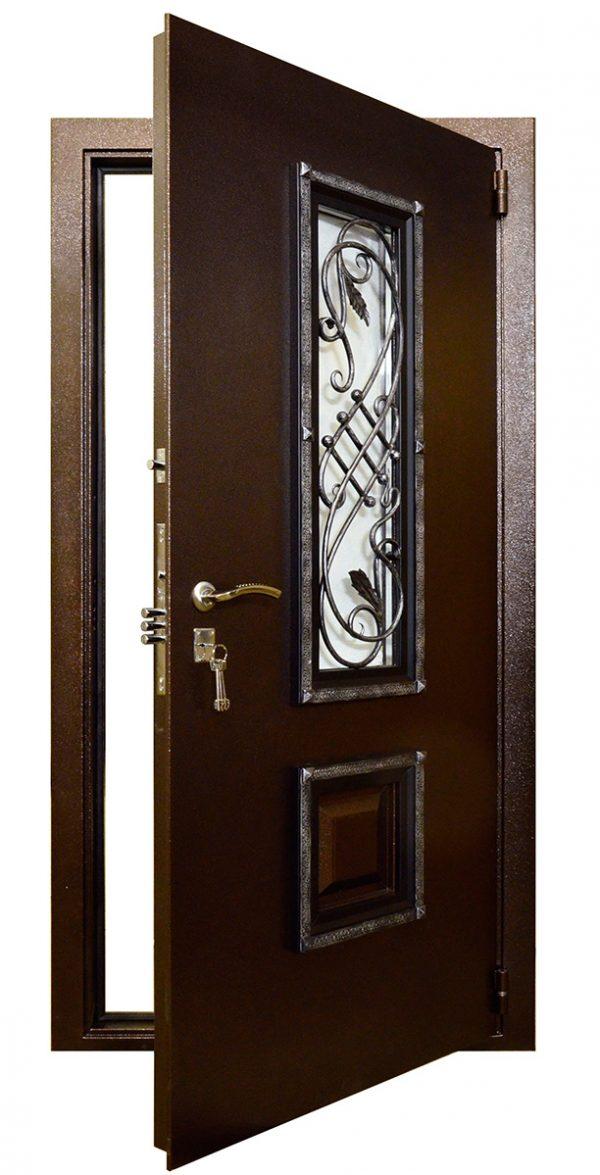 Сейф-дверь со стеклом