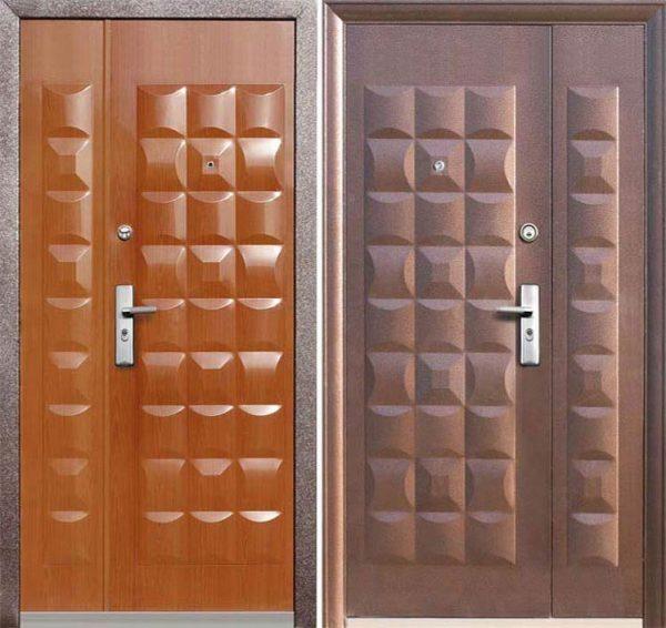 Двустворчатая бронированная дверь