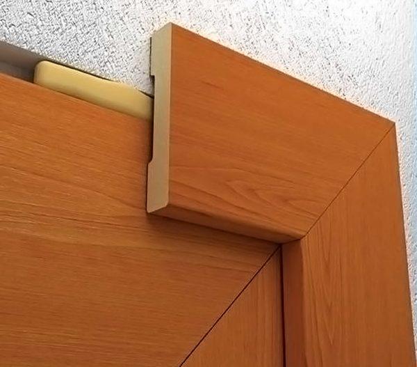 Наличники двери в разрезе