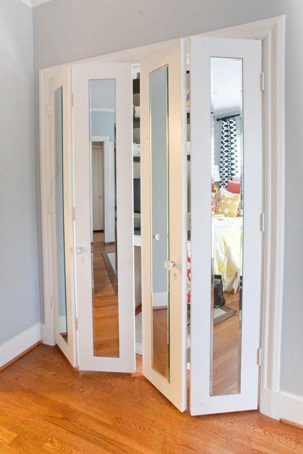 Зеркальные двери гармошка