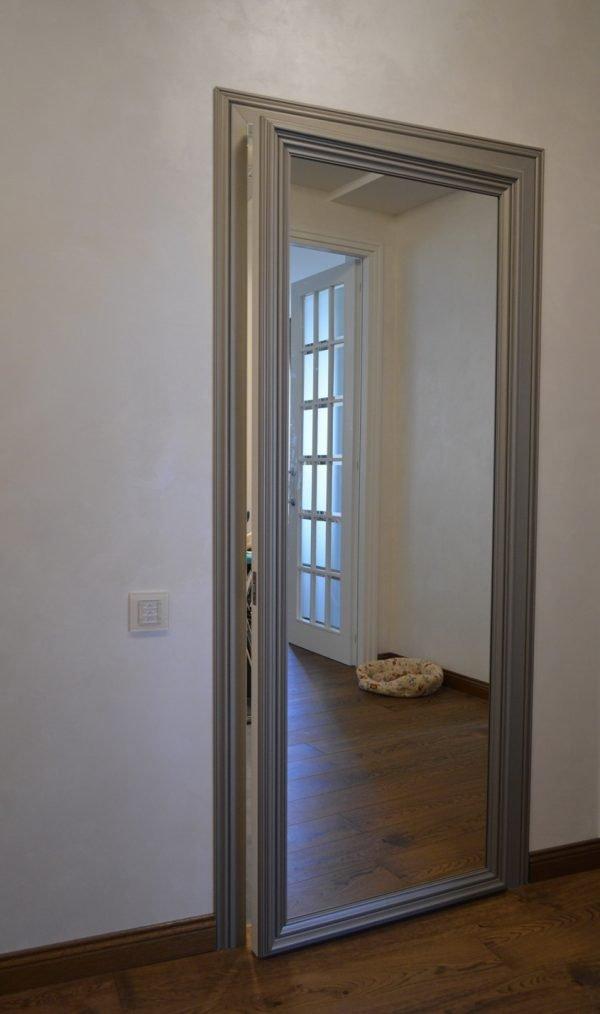 Зеркальные двери в алюминиевом профиле