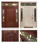 Дубовые двери со вставками из стекла