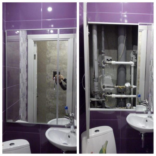 Зеркальные двери для ревизионного люка