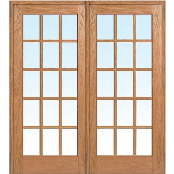 Деревянная дверь с расстекловкой