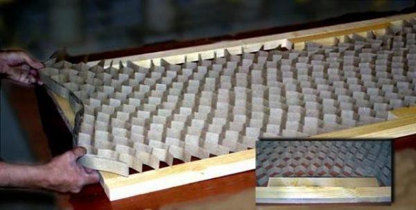 Укладка сотового картона